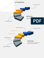 3D0067 3d Stairs Diagram for Powerpoint 16x9