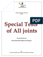 Special Test for All Joints