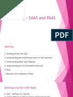 Module 3 - Saas and Paas