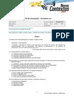 Teste_Fil10_Introdu+º+úo +á Filosofia