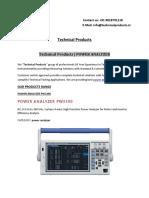 Technical Products - POWER ANALYZER
