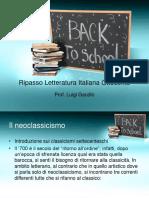 Ripasso Letteratura Italiana