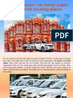 Utilize Luxury Car Rental Jaipur and Visit Exciting Places