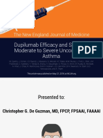 Dupilumab Efficacy and Safety in Moderate ToSevere Uncontrolled