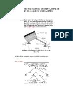 Solucionario Del Segundo Examen Parcial de Teoria de Maquinas y Mecanismos