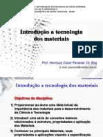 CAP 1 - Introducao a Tec Dos Materiais