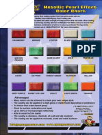 EpoxyMaster Metallic Pearl Effect Epoxy Color Chart