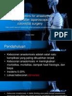 Predictive Factors for Anastomotic Leakage