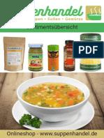 Suppenhandel Sortimentsübersicht 2020