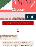 CRASE + A, Á, Á E HÁ