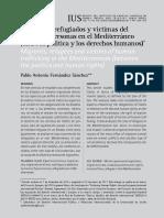 2017, Fernandez, Migrantes, Refugiados y Víctomas Del Trafico de Personas en El Mediterráneo