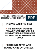5. the Self in Eastern and Western Thought