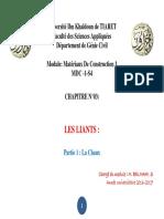 Liants- p1- La Chaux