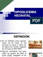 58312440 Hipoglicemia Neonatal