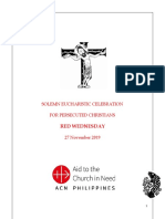 Red Wednesday Mass English