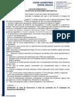 Lista Exercícios 2 - Bioquímica Metabólica