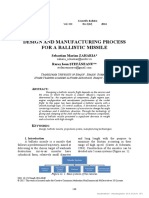 [24513148 - Scientific Bulletin] Design and Manufacturing Process for a Ballistic Missile