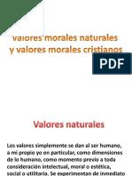 Valores Naturales y Cristianos