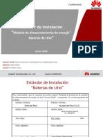 Estándar de Instalación Preliminar Baterías de Litio V2