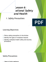 Lesson 6 Occupational Safety and Health
