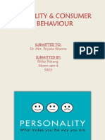 Cosumer Behaviour Personality 5803