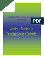 Introdução Aos Métodos e Técnicas de Investigação Social