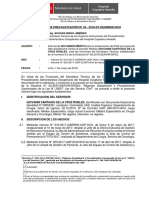 Informe de Precalificación Acta de Control de Permanencia