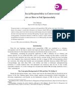 Corporate Social Responsibility in Controversial Davit Belkania