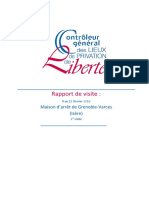 Rapport de La Deuxième Visite de La Maison Darrêt de Grenoble Varces Isère