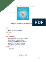 Monografia Sistema Nacional de Defenza Civil