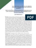 A Linguagem e o Método Na Ciência Do Direito - Jean Soldi Esteves