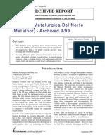Metalnor (Chile) (Forecast International)