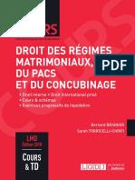 L3 - Droit Des Régimes Matrimoniaux (Corrigé)