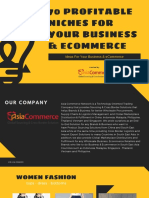 70 Niches for Business Ecommerce