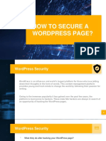 HOW TO SECURE A WORDPRESS PAGE?