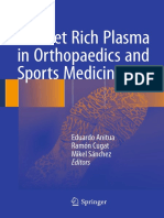 Platelet Rich Plasma in Orthopaedics