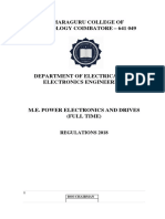 M.E Power Electronics and Drives Semester I to Semester IV R 18