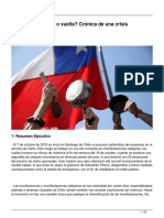 Chile Viaje de Ida o Vuelta Crónica de Una Crisis Institucional