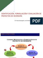 Identificación, Formulación y Evaluación de Proyectos de Inversión