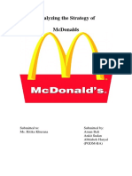 Analyzing the Strategy of McDonalds
