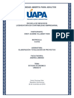 Elaboración y Evaluación de Proyectos - Tarea Unidad IV