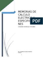 3 MEMORIAS DE CALCULO ELECTRICAS  GONZALO SUAREZ.doc
