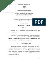 SL5891-2016 Separación de Hecho Unica Beneficiaria Reclamación Admon Suspende Prescripción
