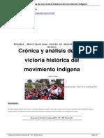 Cr Nica y an Lisis de Una Victoria Hist Rica Del Movimiento Ind Gena a15200