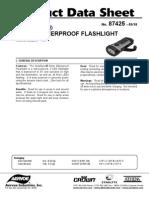 Athena SolaDyne 7425 Solar Waterproof Flashlight