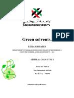 Green Solventss