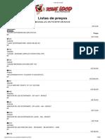 LISTADO PRECIOS TCHE LOCO