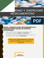 Antago y Sinergismo Medicamentoso