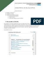 Lección 1.1 Instrucciones Para El Uso Del Aula Virtual