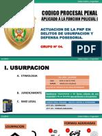 USURPACION Y DEFENSA POSESORIA